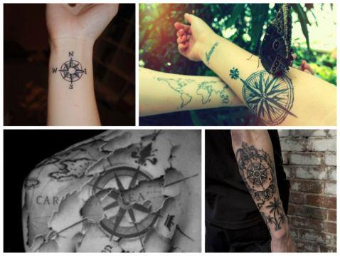 40 фото кращих татуювань, присвячених подорожам