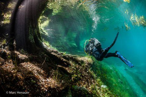 Диво природи. Підводний парк Грін Лейк в Австрії