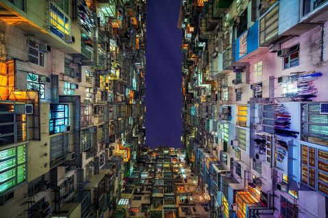 11 фото висоток Гонконгу з переважною симетрією