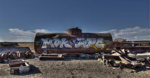 10 знімків найбільшого звалища поїздів у світі, Болівія