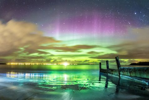 10 неймовірних фотографій північного сяйва в Шотландії