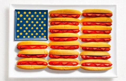 18 прапорів держав, зроблених з їх фірмової їжі