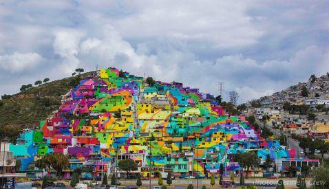 Уряд Мексики попросив вуличних художників розмалювати 200 будинків з єдиною метою...