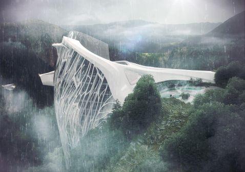 Сенсаційний проект готелю в Альпах, від якого в тебе пропаде дар мови