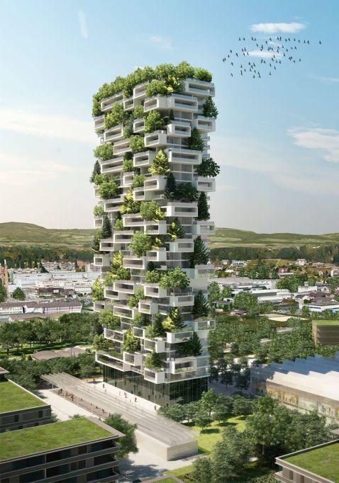 В Швейцарії побудують 117-метровий житловий будинок, покритий деревами