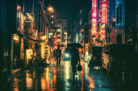 15 чарівних нічних знімків Токіо від Масаші Вакуй