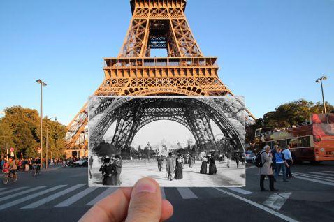 16 дивовижних комбінованих знімків Парижа: тоді і зараз