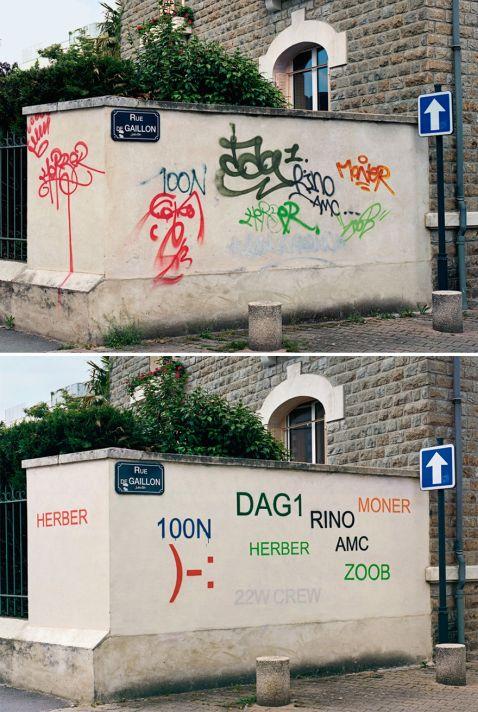 Він перетворює потворні графіті в акуратні і читабельні написи