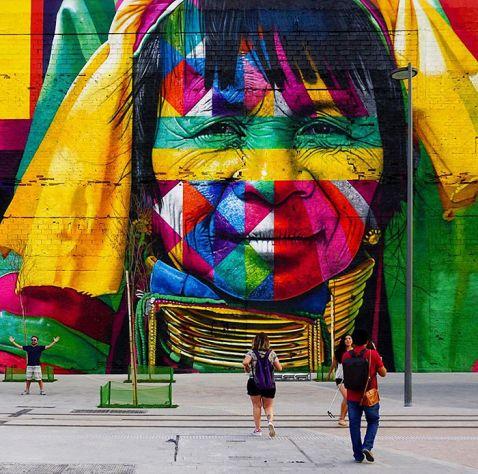 Бразильський художник створив найбільший у світі вуличний мурал для Олімпіади