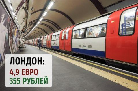 Скільки коштує проїзд у метро в самих знаменитих містах планети
