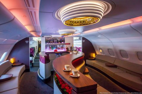 Найкращий інтер'єр літака Airbus A380