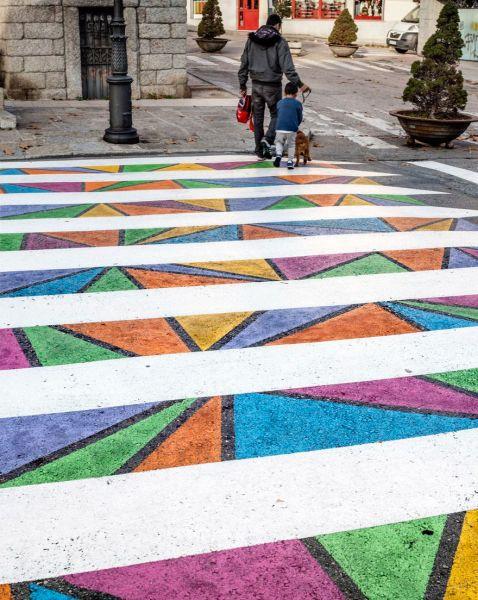Болгарський художник перетворює пішохідні переходи Мадрида у твори мистецтва