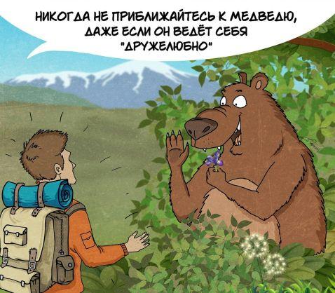 Московський художник намалював комікс про правила поведінки з ведмедями