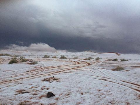 Зима близько: в Саудівській Аравії випав сніг