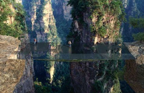 У Китаї між двома вершинами з'явиться невидимий міст