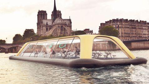 Тепер сплавитися по Сені і подивитися Париж можна з користю для фігури!