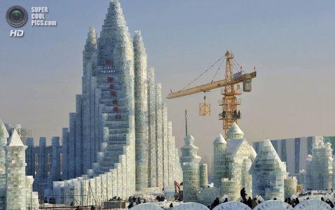 Місто з снігу і льоду відкрився в Китаї