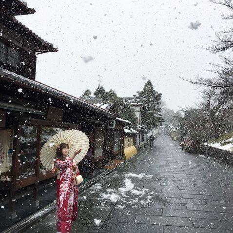 15 магічних знімків Кіото, пережила найсильніший снігопад — дуже рідкісне явище