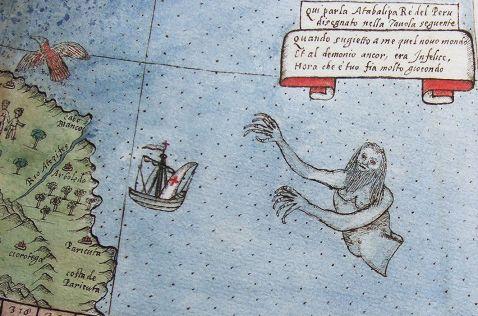 10 старовинних карт світу з морськими чудовиськами з різних куточків планети