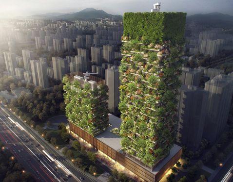 В Азії побудують перший вертикальний ліс. Від його вигляду можна втратити дар мови!