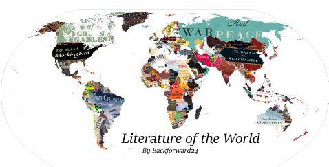 Створена карта книг: тут зібрані головні твори всіх країн!