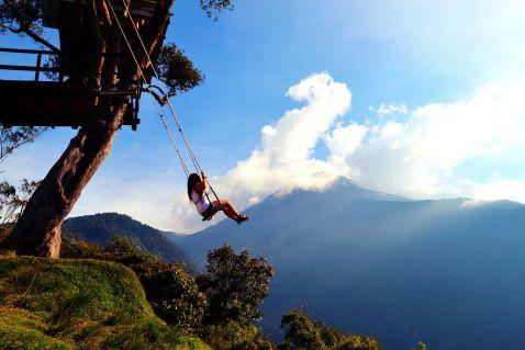 Захоплюючий атракціон з видом на вулкан, де можна поговорити ногами перед лицем смерті