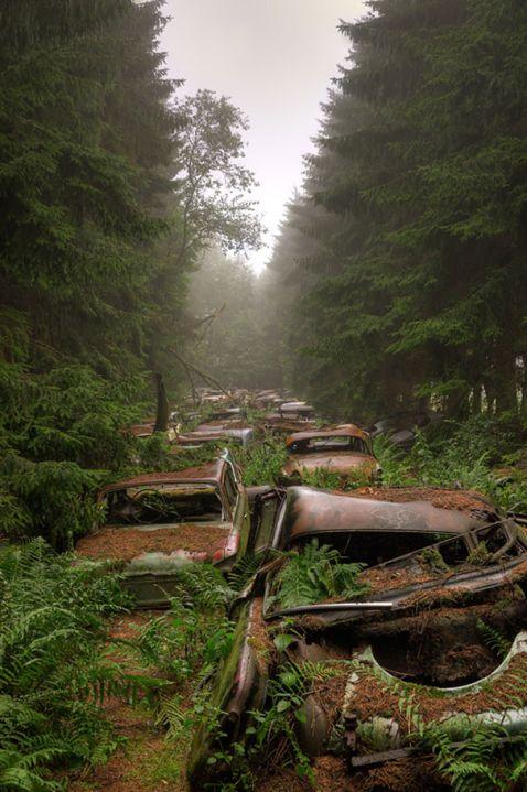 70 років в пробці: автомобільне кладовищі в Бельгії