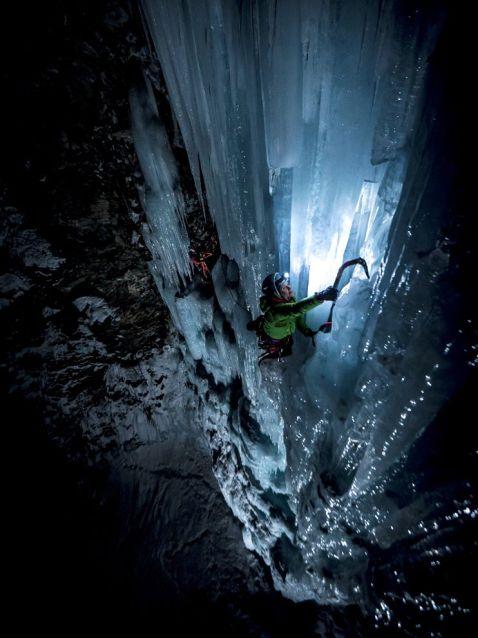 Екстрим фото тижня: Нічний сходження по льоду в Національному парку Гран-Парадізо