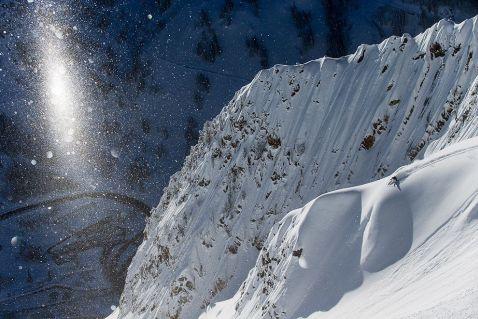 Сноубордистка Керолайн Глич на вершині гори Суперіор, Юта